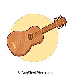 illustratie, gitaar, vector