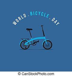 illustratie, het vouwen, vector, fiets