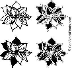 illustratie, liggen, bloem