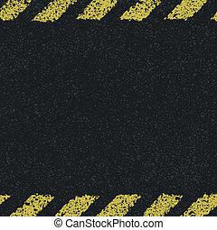 illustratie, lijnen, gevaar, achtergrond., vector, gele, eps8