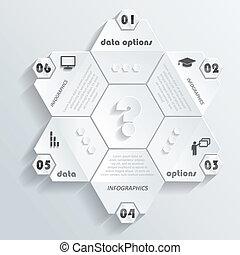 illustratie, moderne, numbers., vector, infographics, ontwerp