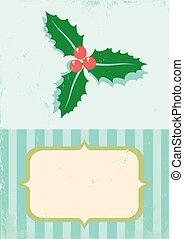 illustratie, retro, pla, kerstmis