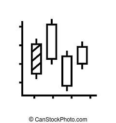 illustratie, symbool., lineair, concept, lijn, diagram, pictogram, vector, schets, analyse, technisch, meldingsbord
