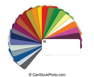 illustratie, van, een, kleur, gids