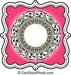 illustratie, van, islamitische kunst, ontwerp