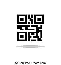 illustratie, van, matrijs, qr, code
