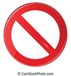 illustratie, van, verboden, meldingsbord, op, vrijstaand,...