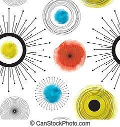 illustratie, vector, pattern., abstract, geometrisch, seamless