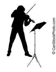 illustratie, vector, violist