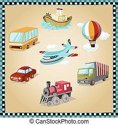 illustratie, vervoeren, faciliteiten