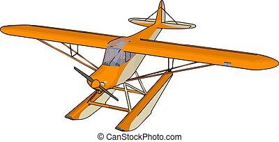 illustratie, witte , vector, achtergrond., sinaasappel, ...