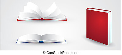 illustraties, boek, open