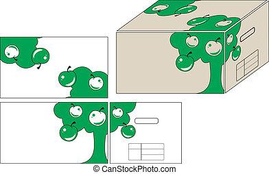 illustraties, container
