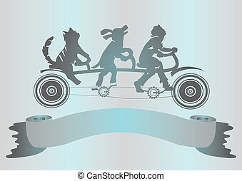 illustrating friendship animals and