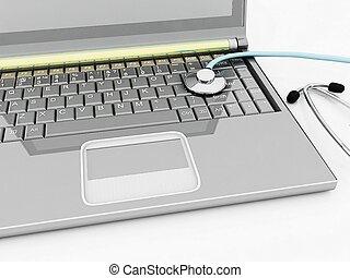 illustratio, diagnostic., 3d, portables