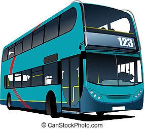 illustratio, image., ベクトル, 都市バス