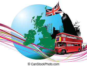illustratio, images., ベクトル, イギリス\