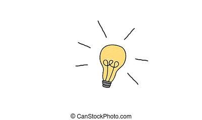 illustration, électrique, ampoule