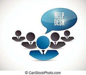 illustration, équipe, conception, bureau, aide