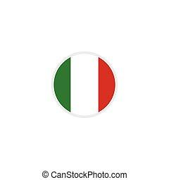 illustration, étiquette, emblème, vecteur, italie, fait, gabarit