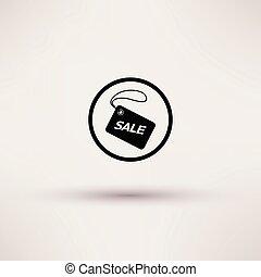 illustration., étiquette, isolé, vente, vecteur, icône