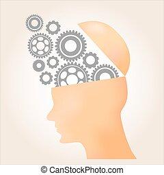 illustration., över, vektor, design, bakgrund, apelsin, tänka