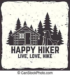 illustration., αγάπη , ζω , hike., adventure., μικροβιοφορέας , hiker., ακραίος , ευτυχισμένος