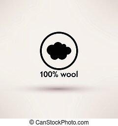 illustration., εκατοστιαία , απομονωμένος , μικροβιοφορέας , 100 , μαλλί , εικόνα