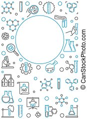 illustration., κάθετος , χημικός , μικροβιοφορέας , φόντο , ...