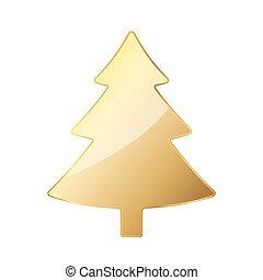 illustration., μικροβιοφορέας , xριστούγεννα , χρυσαφένιος , αγχόνη.