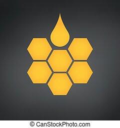 illustration., σταγόνα , μέλι , μικροβιοφορέας , ο ενσαρκώμενος λόγος του θεού , κηρήθρα