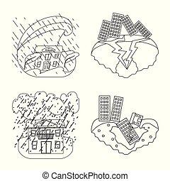 illustration., σύμβολο. , συλλογή , μικροβιοφορέας ,...