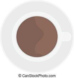 illustration., カップ, 上, coffe, ベクトル, 光景