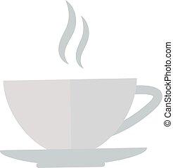 illustration., カップ, coffe, ベクトル, 正面図