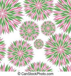 illustration., カラフルである, ornament., pattern., seamless, mandala., ベクトル, ラウンド