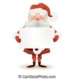 illustration., スペース, ライト, claus, 特徴, 挨拶, クリスマス, バックグラウンド。, ベクトル, カード, santa, 保有物, text., あなたの, 空, 幸せ