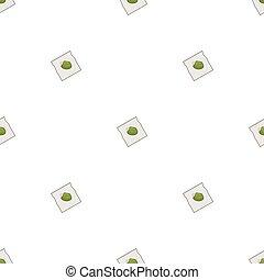 illustration., ハーブ, パターン, seamless, バックグラウンド。, ベクトル, 治癒, 白
