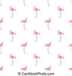 illustration., パターン, seamless, バックグラウンド。, flamingos., ベクトル, hand-drawn