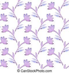 illustration., パターン, seamless, バックグラウンド。, flowers., ベクトル, hand-drawn