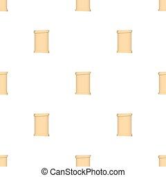 illustration., パターン, seamless, パピルス, バックグラウンド。, ベクトル, 白, スクロール