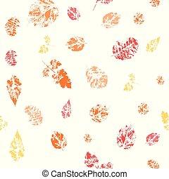 illustration., パターン, seamless, leaves., 秋, ベクトル