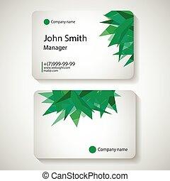 illustration., ビジネス, ベクトル, 流行, template., カード