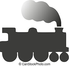 illustration., ベクトル, イラスト, 定型, locomotive., 古い
