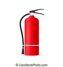 illustration., ベクトル, 保護, isolated., 消火器, 株, 火