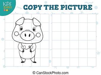 illustration., ベクトル, 格子, 教育, コピー, ミニ, ゲーム, 映像