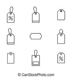 illustration., ベクトル, 買い物, セット, 金融, アイコン