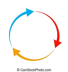illustration., ベクトル, arrow., 色, 円