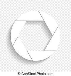 illustration., 写真, 印, バックグラウンド。, vector., 白, 柔らかい, 影, 透明, アイコン