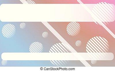 illustration., 勾配, 甘い, 抽象的, 現代, 線, circle., app., ベクトル, 夢のようである, モビール, 背景, ぼやけ, デザイン, スクリーン, 色