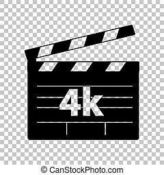 illustration., 印。, バックグラウンド。, 黒, 4k, 透明, フィルム, アイコン